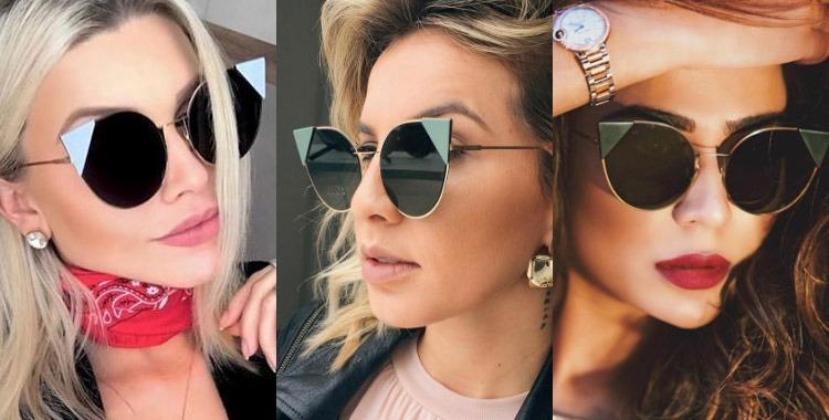 6c420aa486c95 Óculos De Sol Fendi Gatinho Grátis Case Luxuosa - R  79