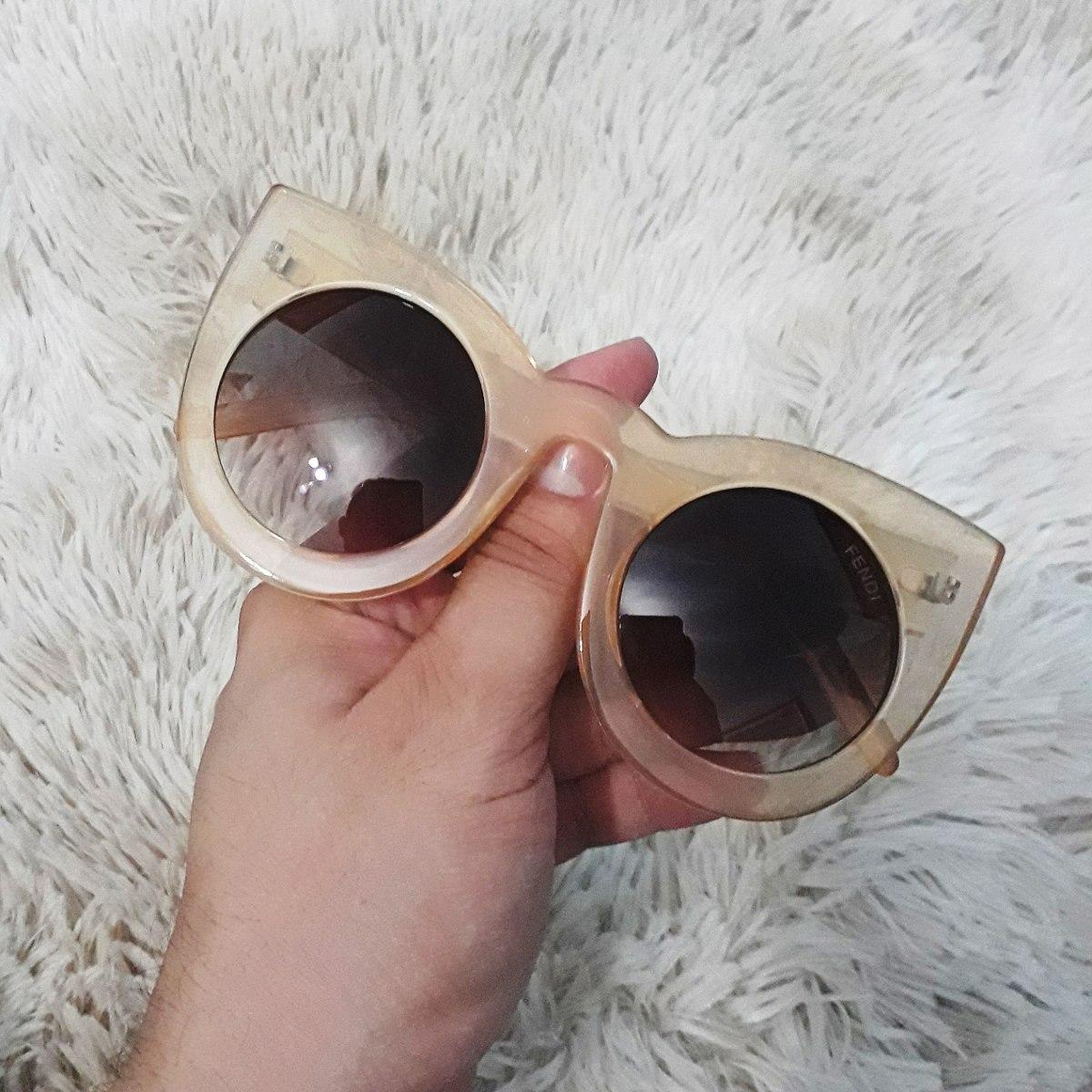 a551e83dae115 óculos de sol fendi lolly gatinho nude grande uv400. Carregando zoom.