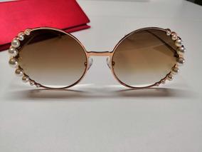 b27237910 Óculos De Sol Fendi Ribbons And Pearls Ff0295 Marrom Degradê
