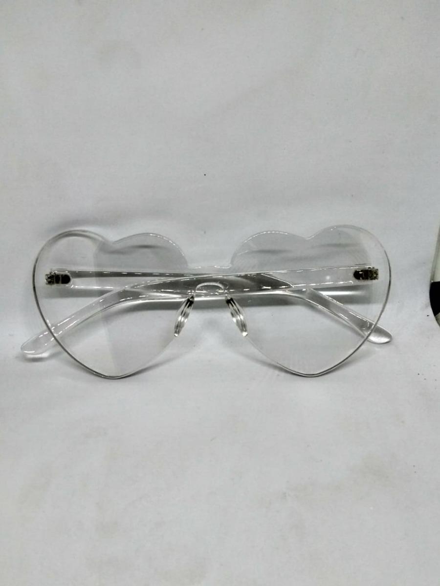 Óculos De Sol Formato Coração Acrílico Lente Colorida - R  29,99 em ... cc8cfd9876