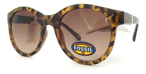 óculos de sol fossil original marrom fw99 + frete grátis