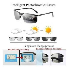Óculos De Sol Fotocrômico Homem Polarizado Camaleão Des
