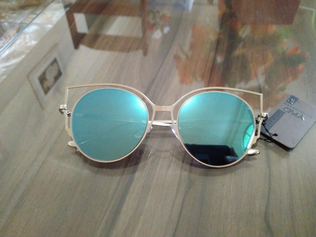 09350f1980330 Óculos De Sol Gatinho Azul Proteção Uv 400 - R  39,00 em Mercado Livre