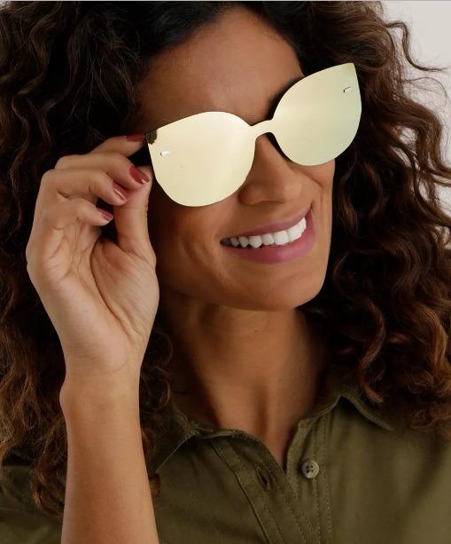 ca49d4576 Óculos De Sol Gatinho Espelhado Feminino - R$ 49,90 em Mercado Livre