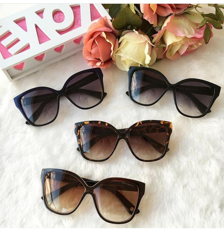 Óculos De Sol Gatinho Feminino Grande Dita Frete +brinde - R  120,00 ... 3a47c2ed87