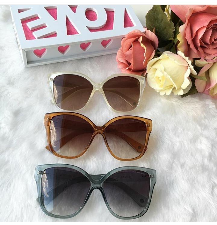 413faf693844f Óculos De Sol Gatinho Feminino Grande Dita Frete +brinde - R  499,00 em  Mercado Livre