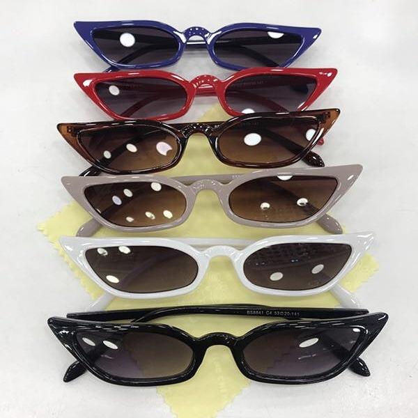 a06f239a09f7d Óculos De Sol Gatinho Puxadinho Pequeno Vintage Frete Brinde - R ...