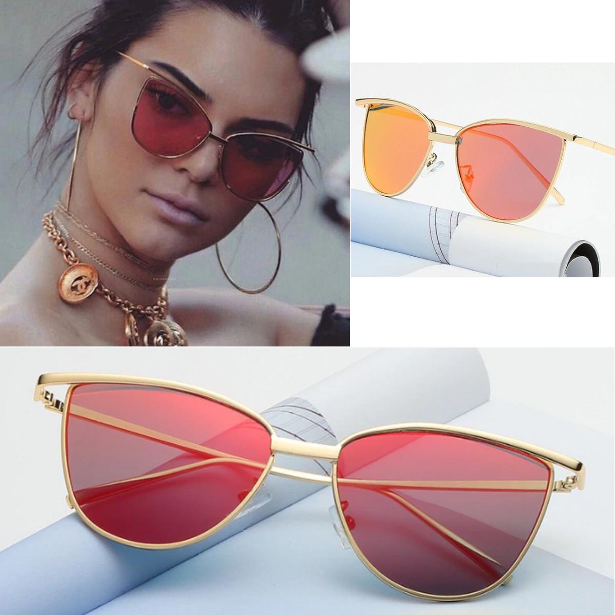 91e600b347328 óculos de sol gatinho vintage dourado retrô + estojo flanela. Carregando  zoom.