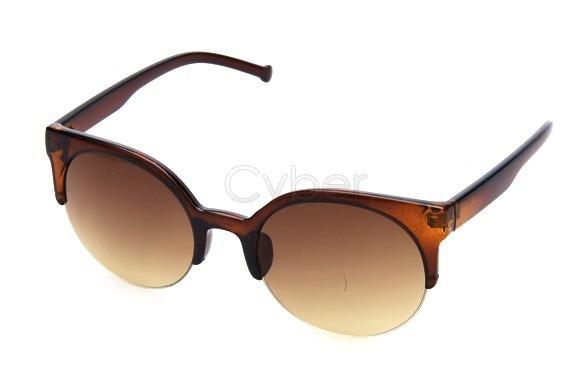 fcd33af579186 Óculos De Sol Gato Gatinho Cat Eye Redondo Marrom - R  46