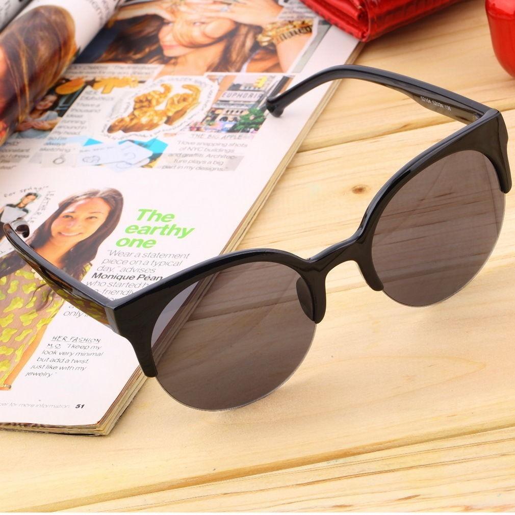 f338fcf6dc909 Óculos De Sol Gato Gatinho Cat Eye Redondo Proteção Uv - R  41,10