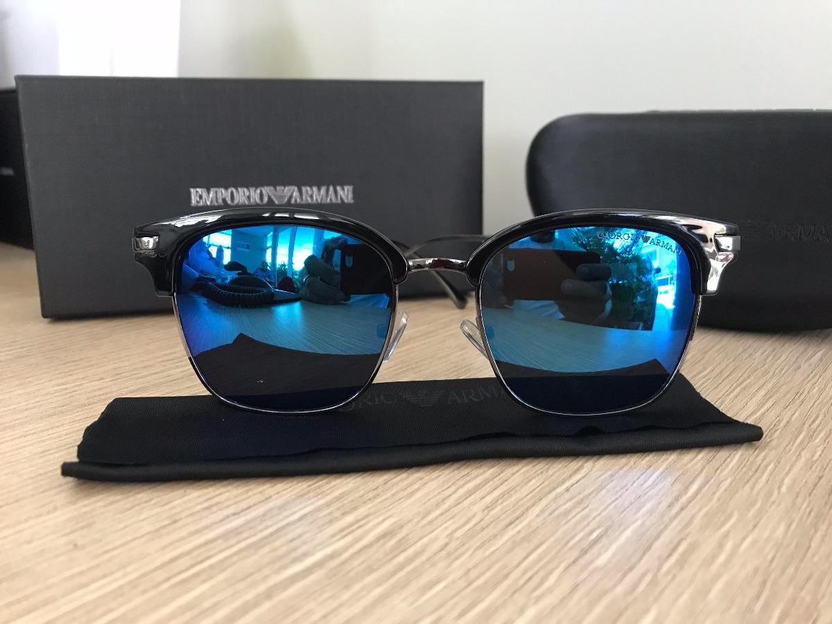 óculos de sol giorgio armani clubmaster 6136 azul espelhado. Carregando  zoom. a3d2cff3b3