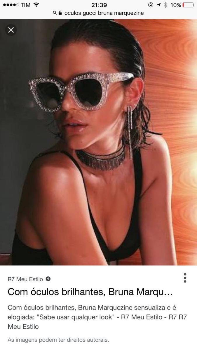 ffcabb41ce oculos de sol gliter gucci importado bruna markezine import. Carregando  zoom.