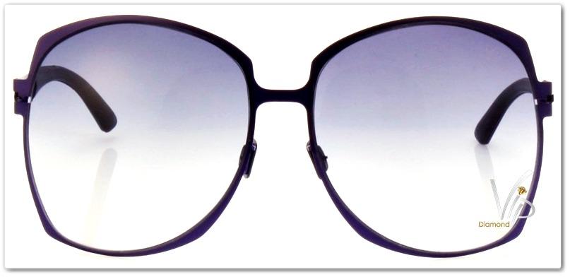 óculos de sol grande feminino carmim roxo metal degradê. Carregando zoom. 5425c7c28d