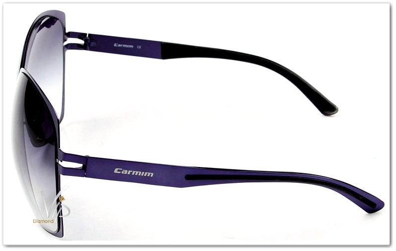 Óculos De Sol Grande Feminino Carmim Roxo Metal Degradê - R  669,99 ... f0d9f79701