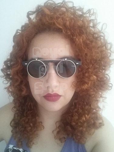 e6b7f4f82 Oculos De Sol Grau Duas Lentes Redondo Retro Flip Up - R$ 19,90 em ...