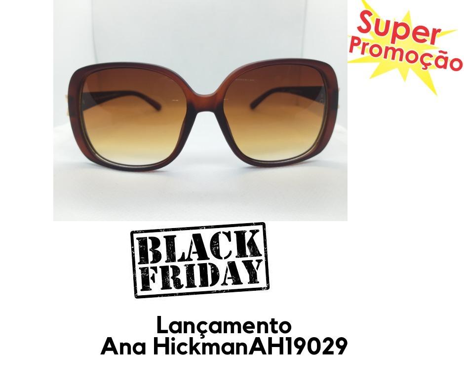 0d62fc9c2a52e Óculos De Sol Grau Feminino Ana Hickman Original Novo - R  64,00 em ...