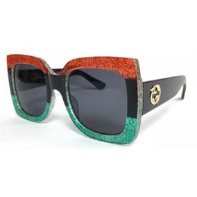 2a69fe0cb Oculo Quadrado Gucci De Sol - Óculos no Mercado Livre Brasil
