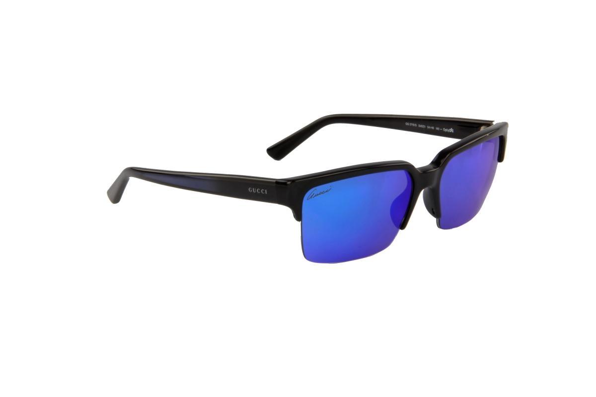 4ae4ff5f5da4c óculos de sol gucci 100% proteção uv melani espelhado preto. Carregando zoom .