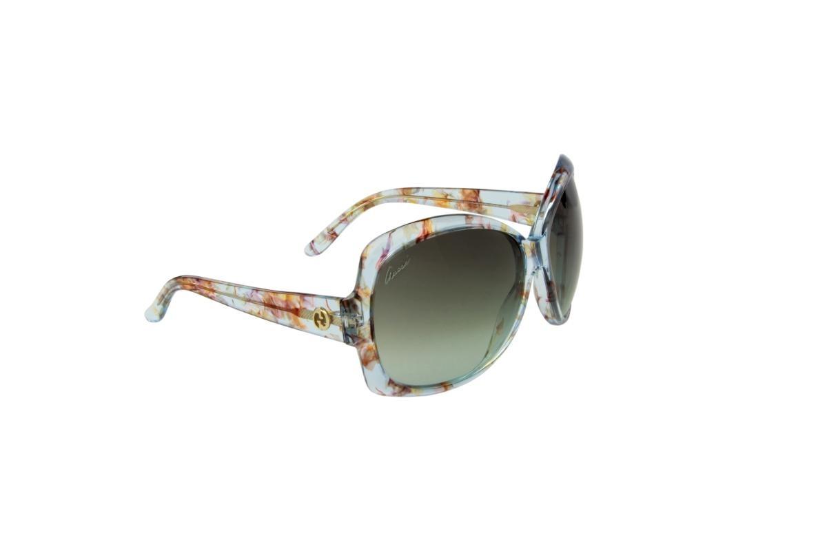 óculos de sol gucci 100% proteção u.v. ópticas melani azul. Carregando zoom. 9b476c49d5