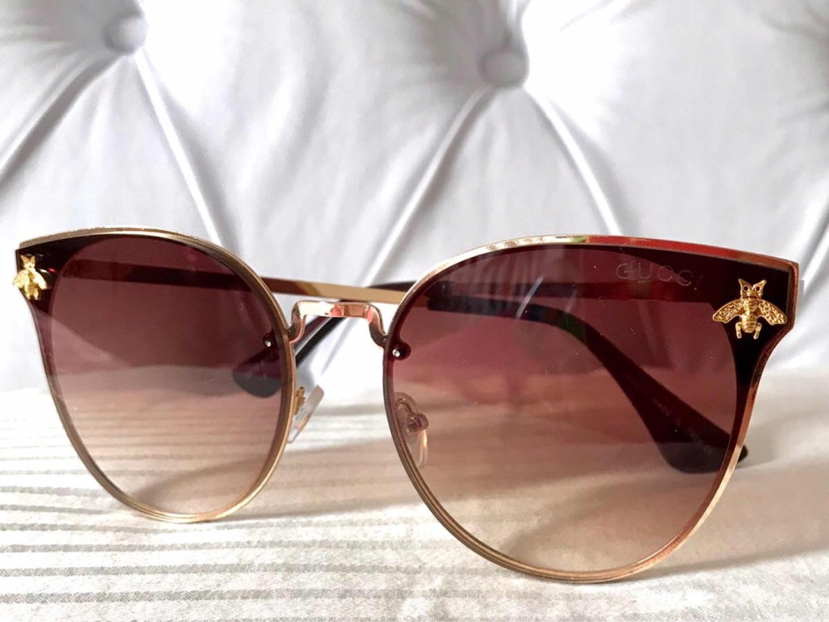 Óculos De Sol Gucci Abelha1 - R  138,00 em Mercado Livre a6ff8fe2a2