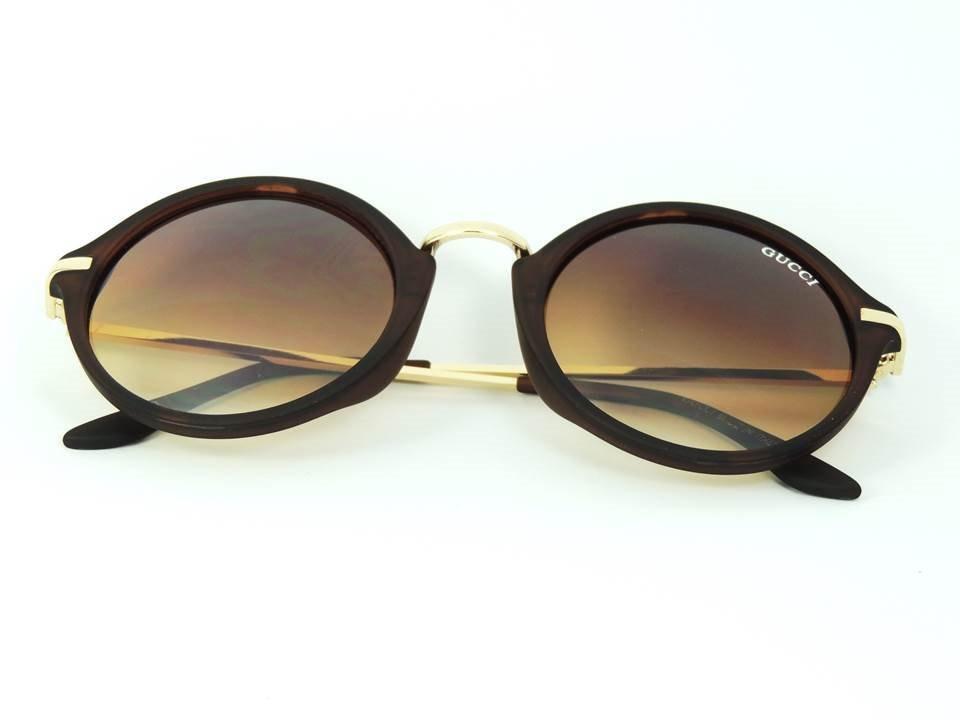 3e11c834a óculos de sol gucci feminino redondo luxo uv400 oferta. Carregando zoom.