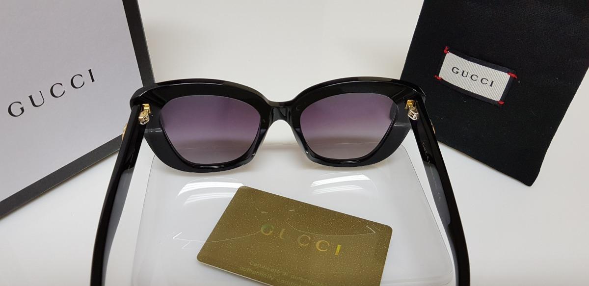 8b7df7656 óculos de sol gucci gc0327s preto e lentes cinza original. Carregando zoom.