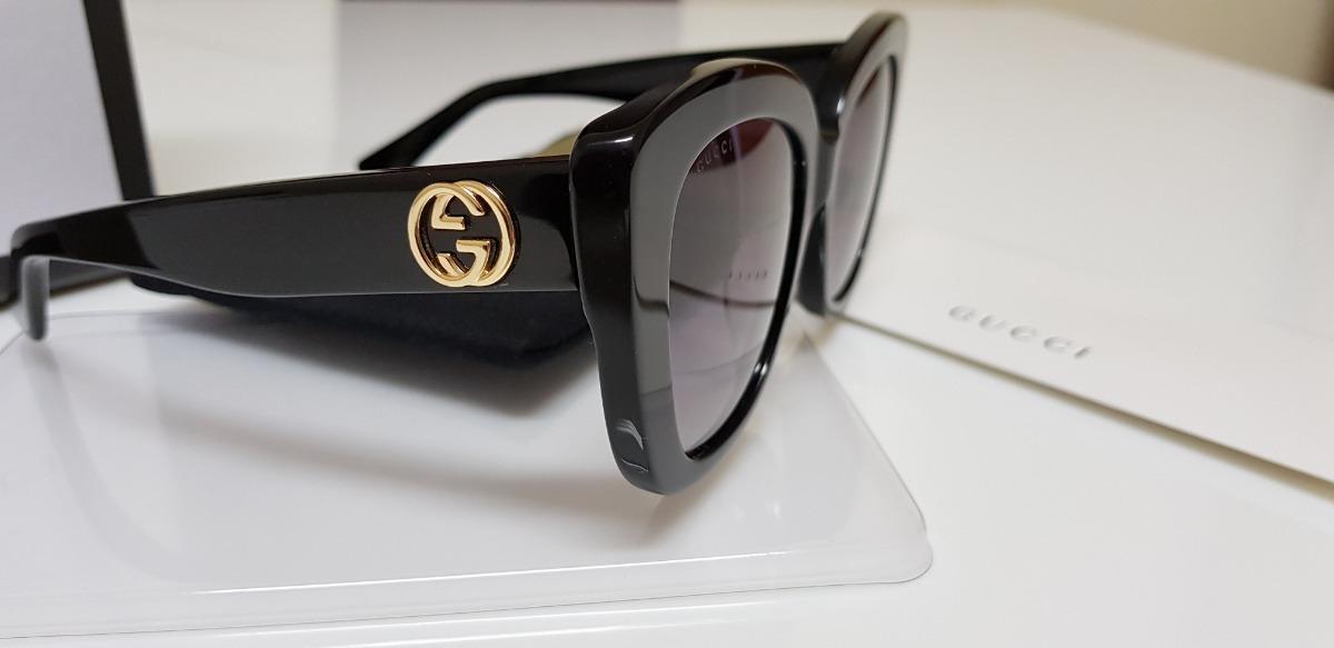 e007c52069e1e Óculos De Sol Gucci Gc0327s Preto E Lentes Cinza Original. - R  950 ...