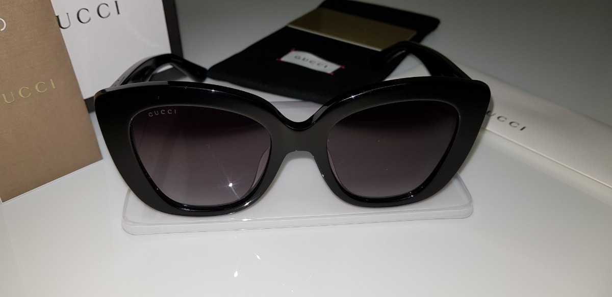 Óculos De Sol Gucci Gc0327s Preto E Lentes Cinza Original - R  650 ... aa14d91cae