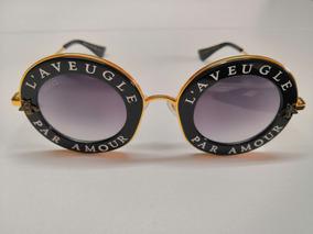 c983607dd Óculos De Sol Gucci Gg0113s Par Amour Paris Redondo