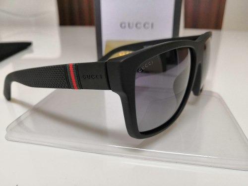 Óculos De Sol Gucci Original Gg1124 f s Acetato Preto - R  950,00 em ... 9b35ae80ac