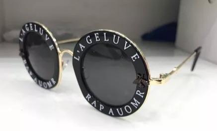 049b44e82 Óculos De Sol Gucci Preto L Aveugle Par Amour - R$ 120,00 em Mercado ...