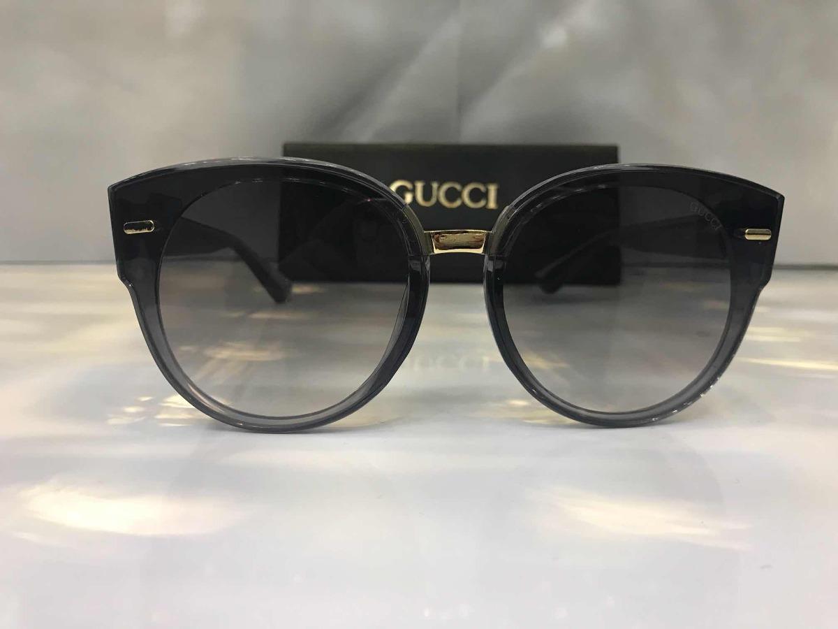 ... óculos de sol gucci promoção redondo preto degrade feminino. Carregando  zoom. b936ee874dcdf3 ... 4a4fc84932