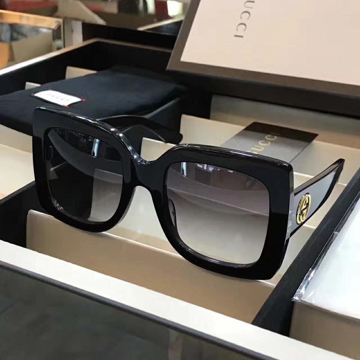 66897641bf83d óculos de sol gucci quadrado acetato com kit frete grátis. Carregando zoom.
