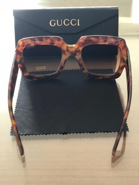 845aa454d0409 Oculos De Sol Gucci Quadrado Feminino Importado - R  95