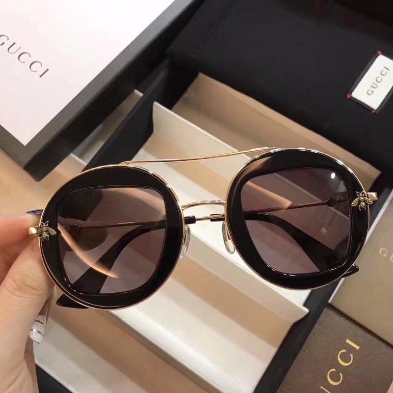 óculos de sol gucci round frame feminino - pronta entrega. Carregando zoom. fab9bf28dd