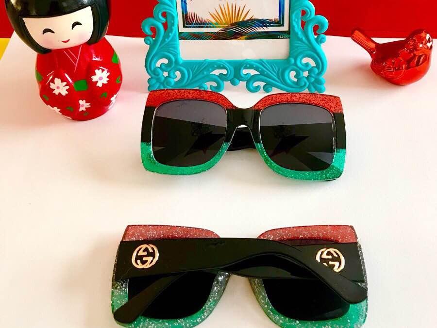 Óculos De Sol Gucci Tamanho Grande Espelhado Coloridas - R  120,00 ... 7e05b96022