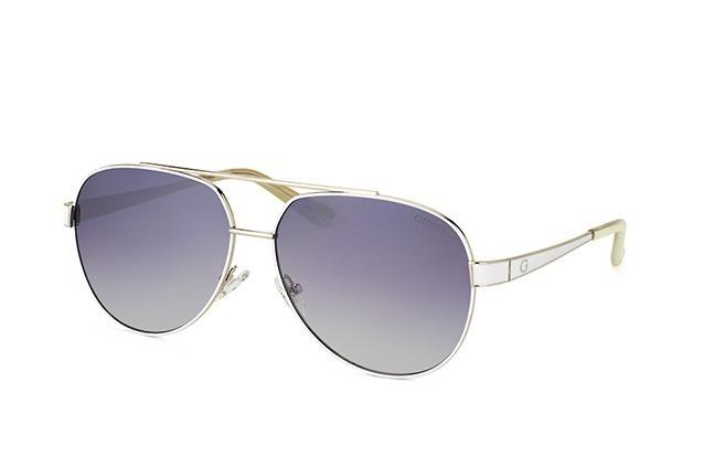 9a91c802c94e6 Óculos De Sol Guess Aviador Gu7460 Prata Espelhado Original - R  356 ...