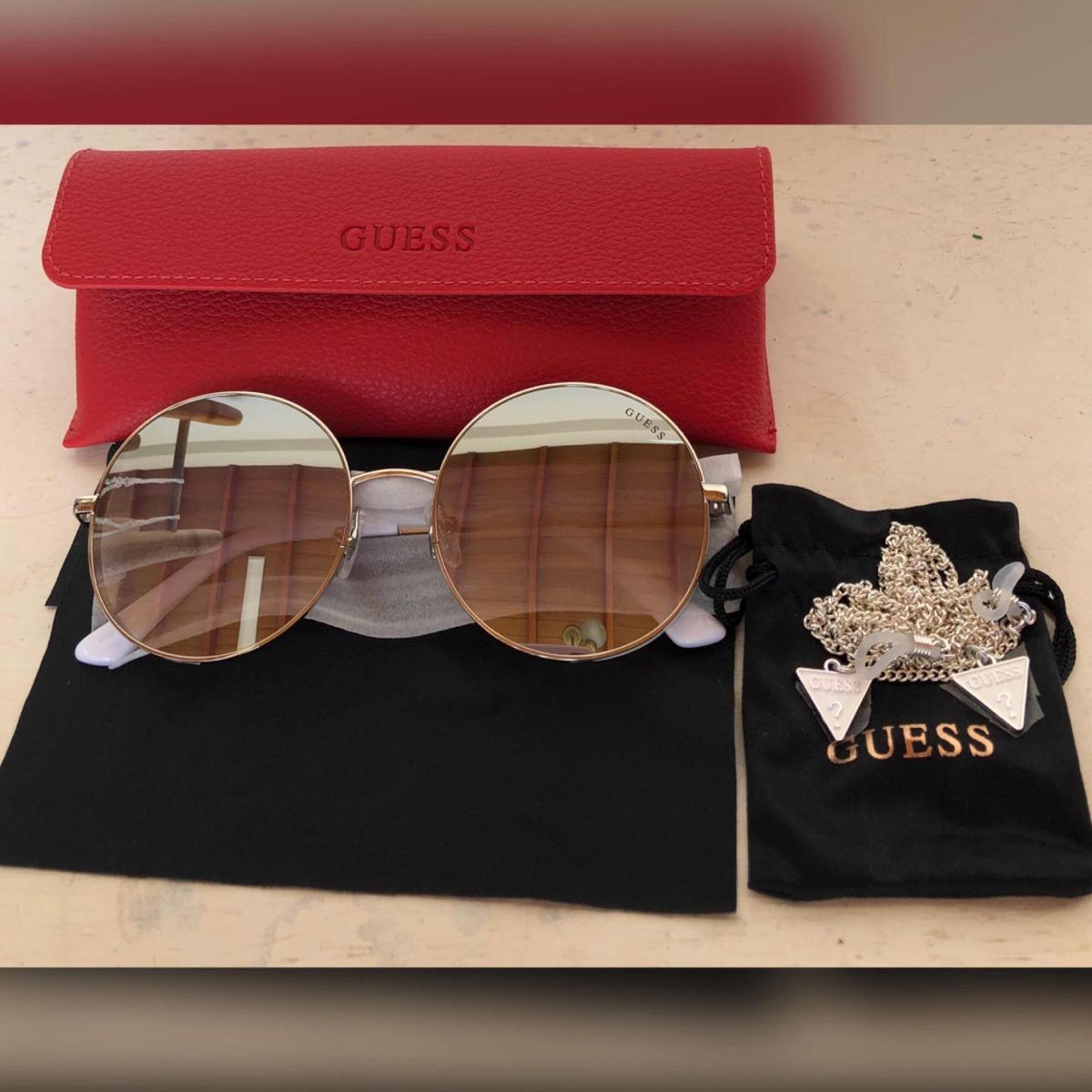 21db26d7a Óculos De Sol Guess Degrade Prata Com Branco - Novo - R$ 799,00 em ...