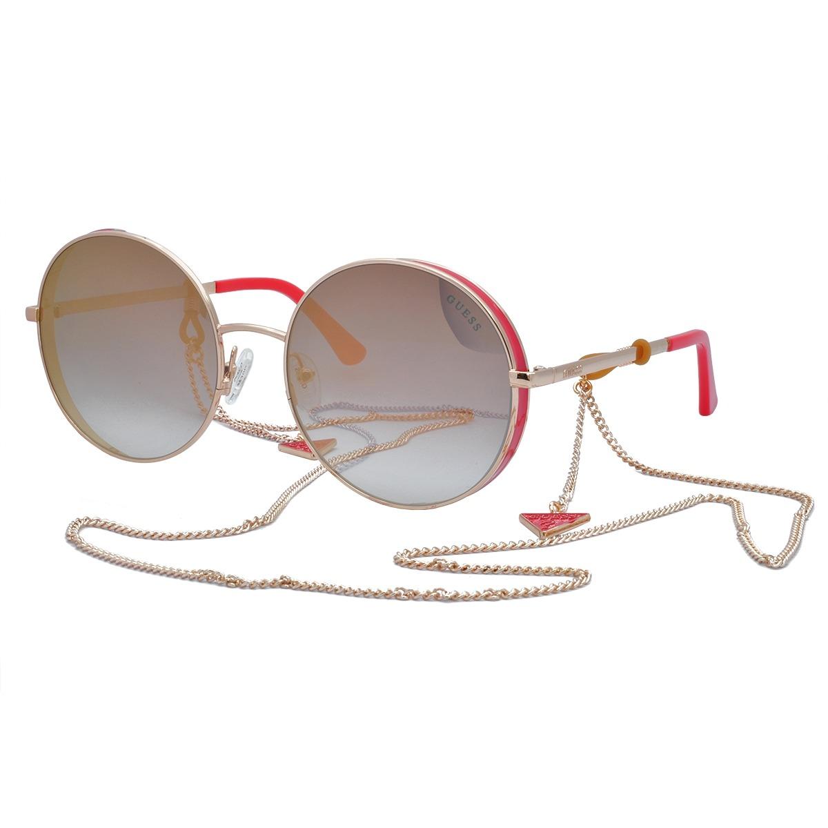 68d8b7a131e1a óculos de sol guess original feminino com corrente gu7606 28. Carregando  zoom.