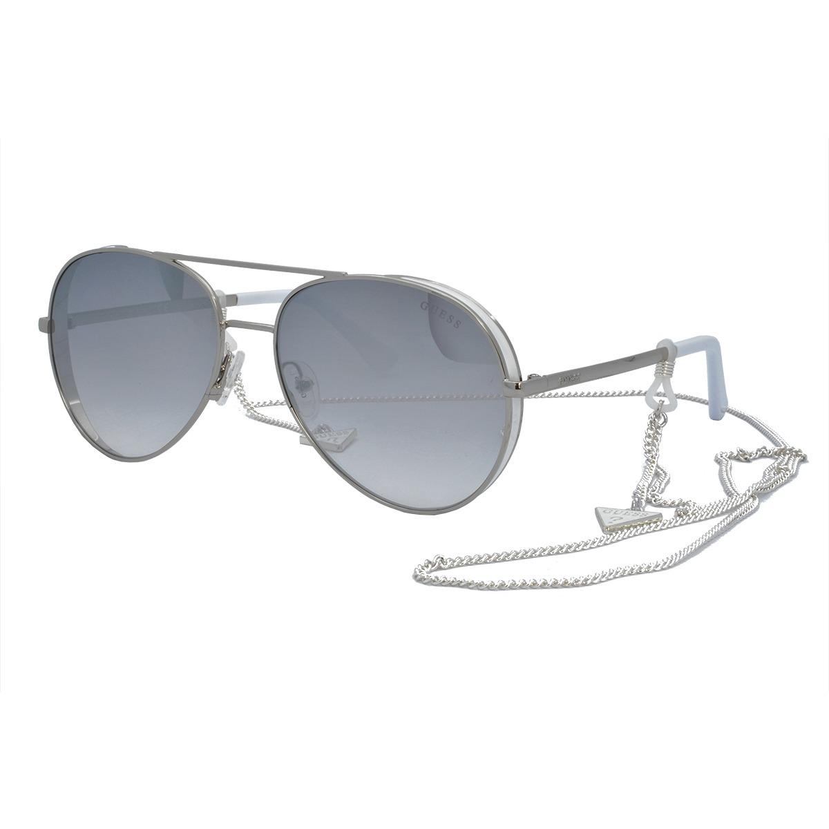 d9ca1acd5 óculos de sol guess original feminino com corrente gu7607 20. Carregando  zoom.