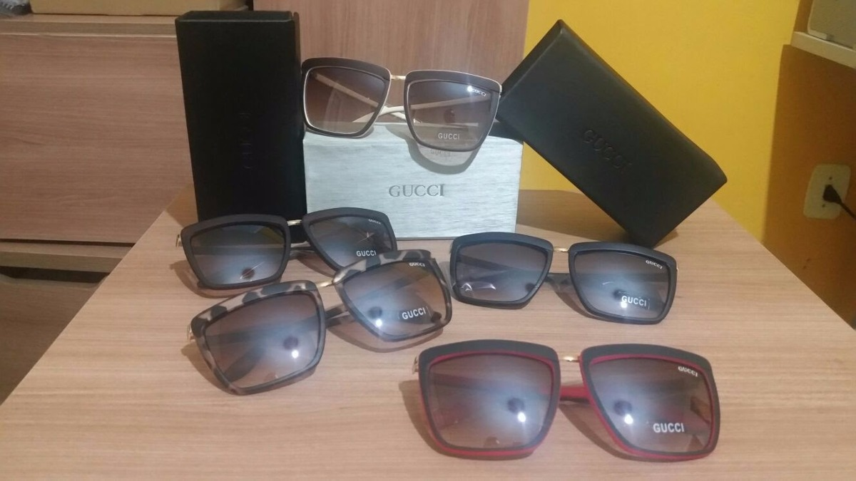 Óculos De Sol Gutti Quadrado Diversas Cores - R  62,90 em Mercado Livre 6fa2c3aa07