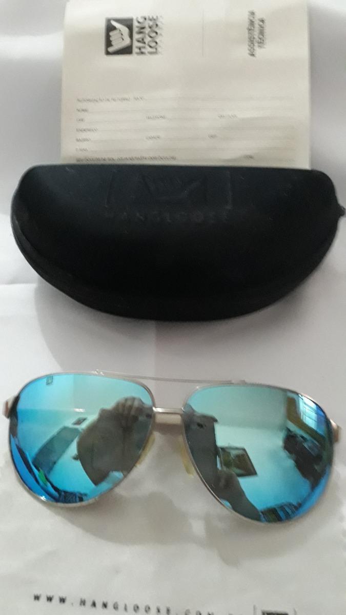 5fc30f953 óculos de sol hang loose azul e branco tipo aviador cod 2496. Carregando  zoom.