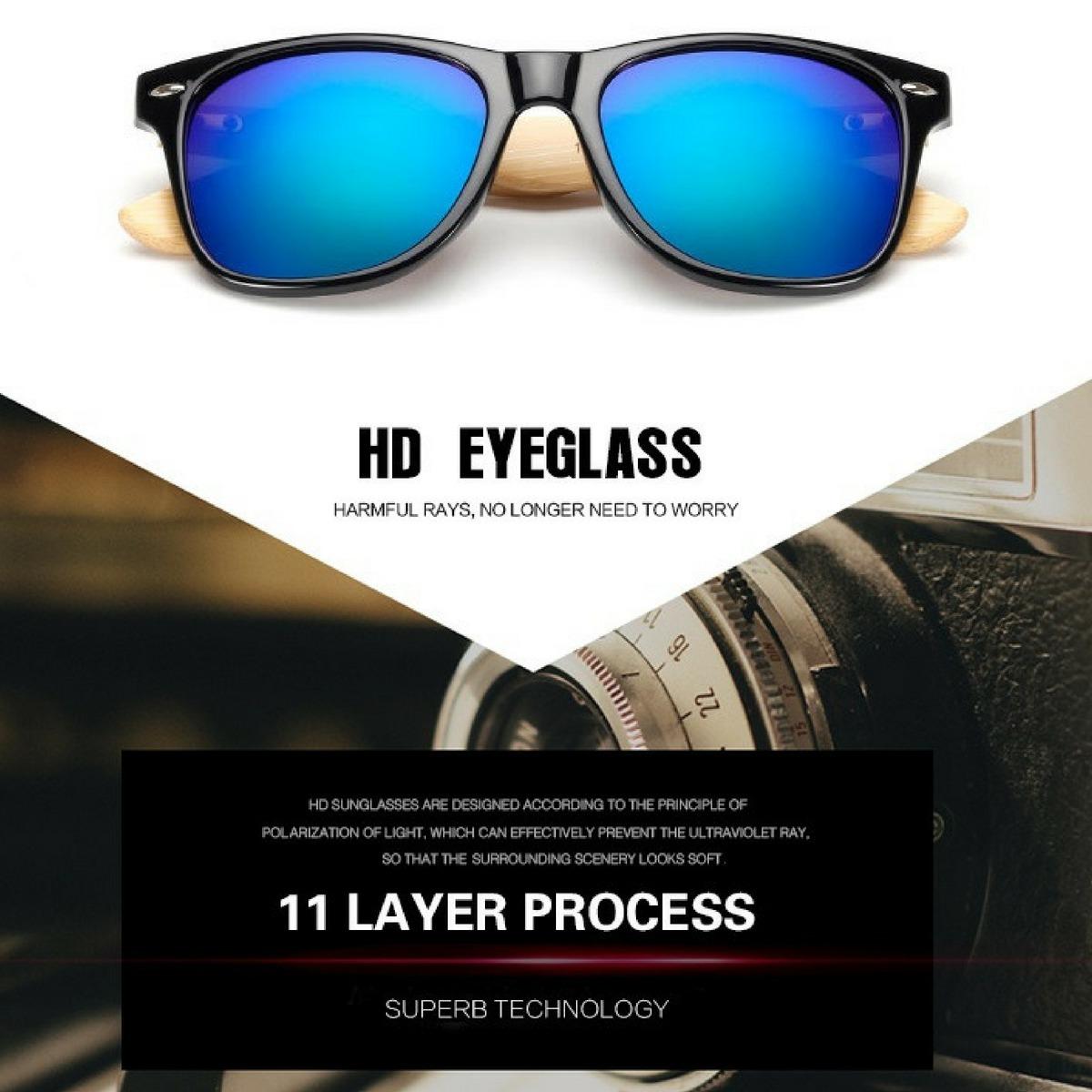 2a4408bbd óculos de sol haste em madeira uv400 fotocromático. Carregando zoom.