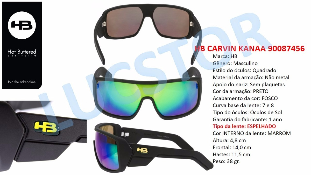 e3142302e3392 Oculos De Sol Hb Carvin Tony Kanaa 90093406 Espelhado - R  299,99 em ...