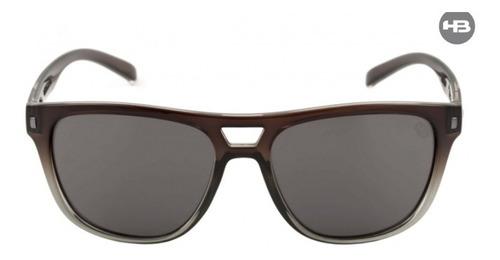 óculos de sol hb modelo darter matte onyx silver lenses