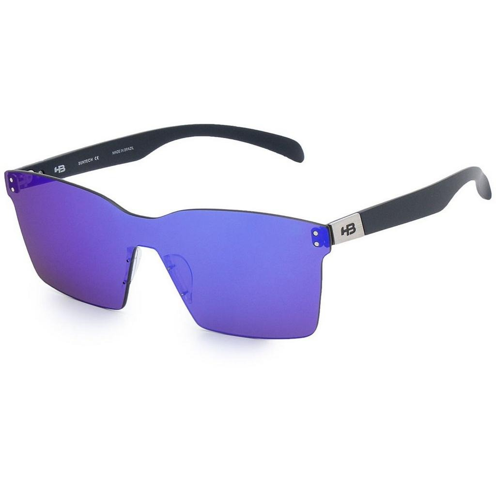 Óculos De Sol Hb Nevermind Mask Matte Navy I Blue Chrome - R  224,08 ... caec2a5276