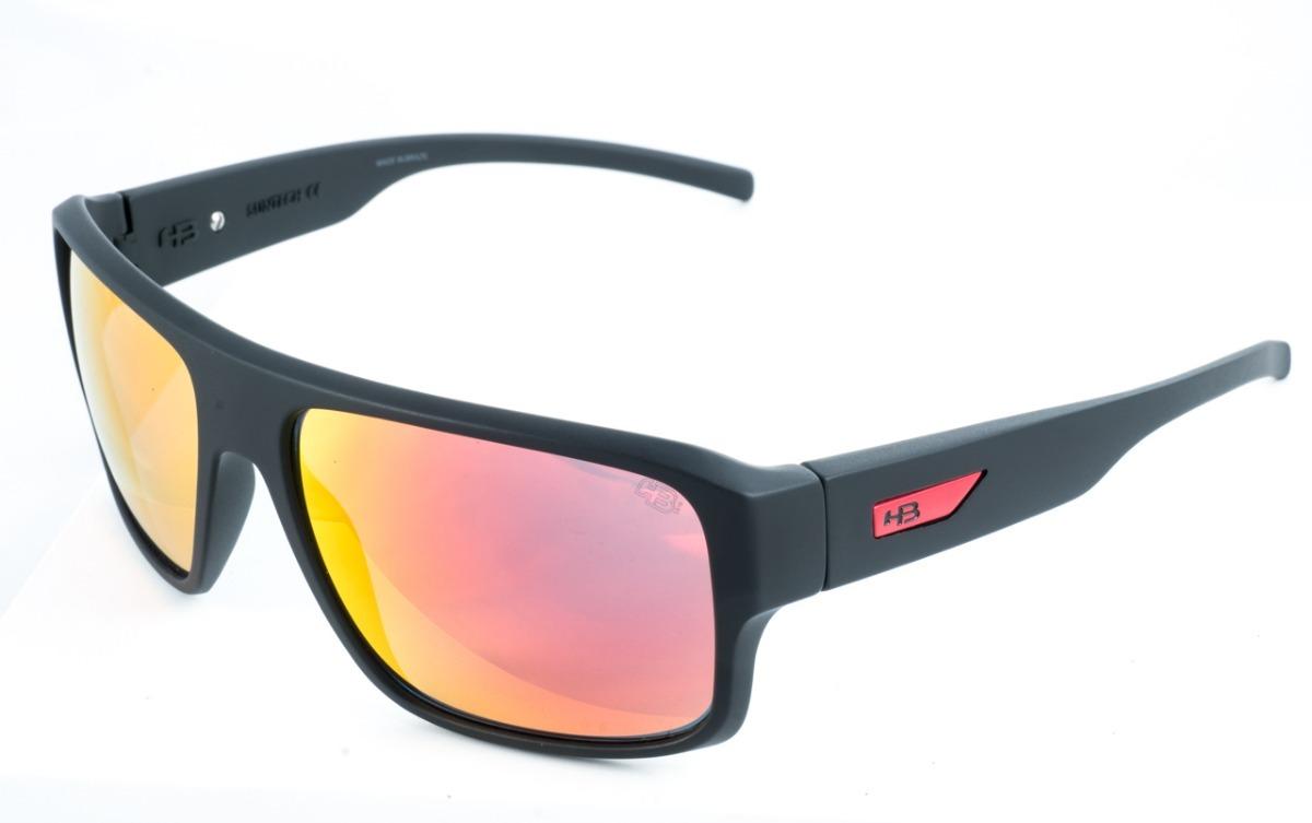 3233bb7a6 óculos de sol hb redback preto vermelho original garantia. Carregando zoom.