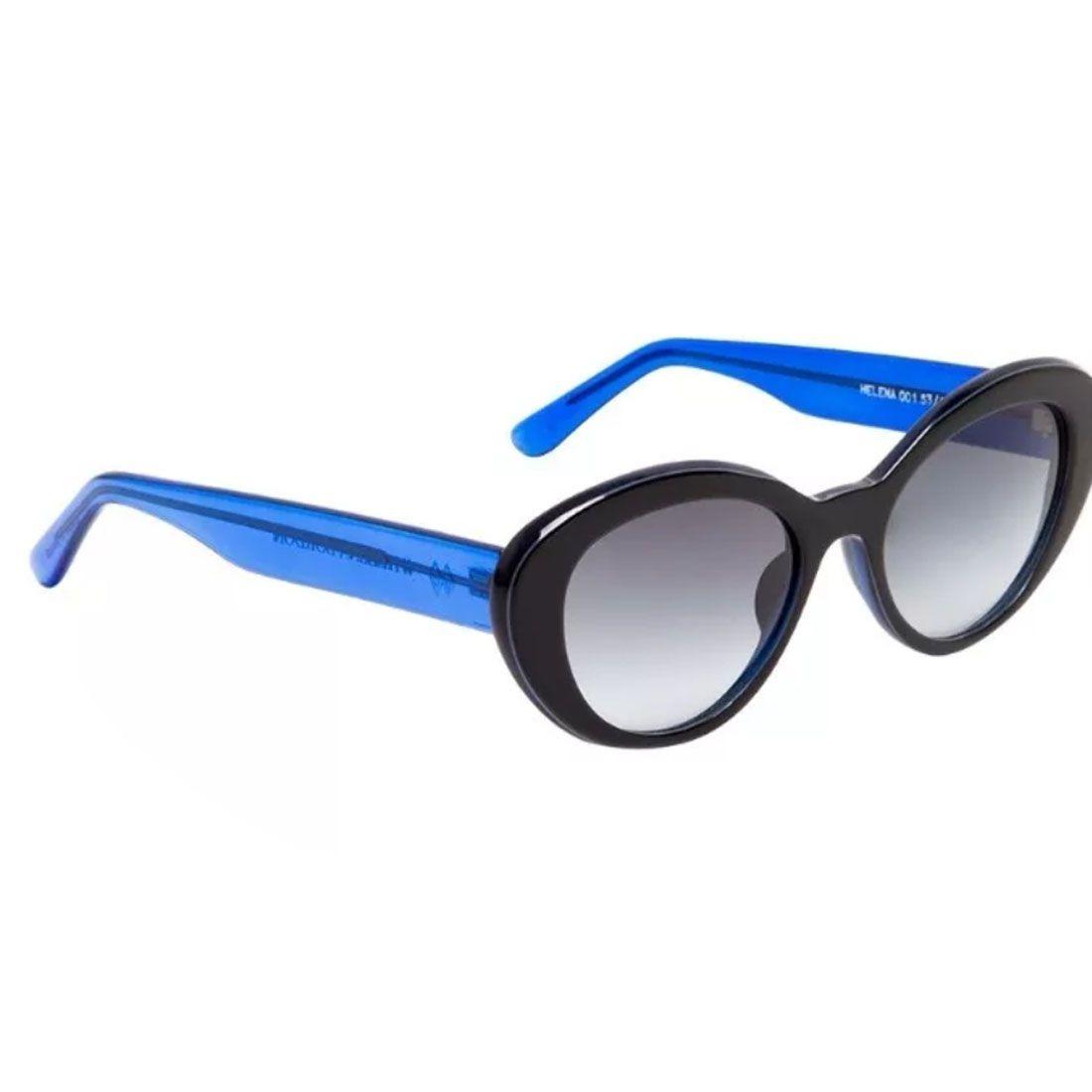 11f7e0fba1585 óculos de sol helena bordon preto   azul. Carregando zoom.