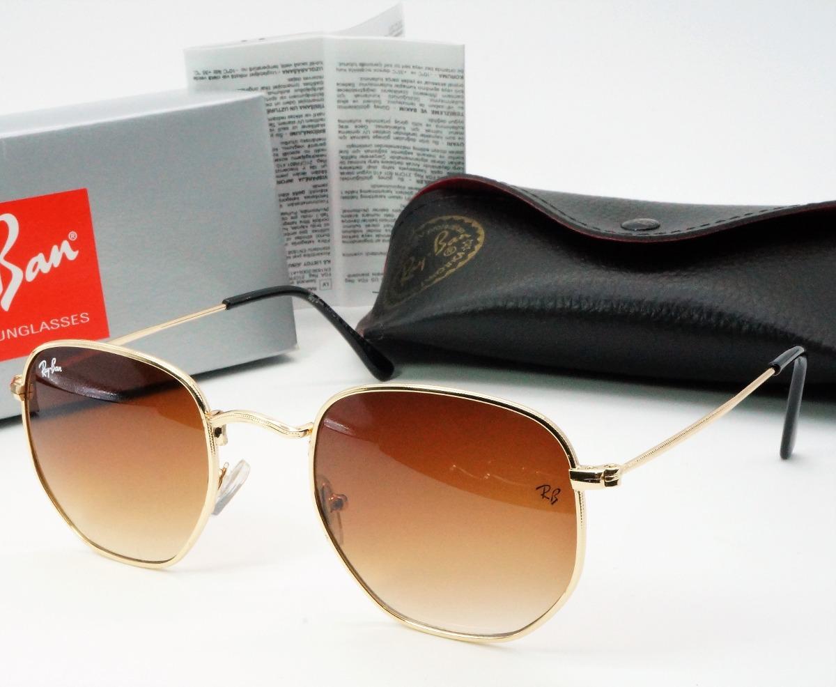 cf6ba3c711f00 oculos de sol hexagonal marrom espelhado protecao uva uvb. Carregando zoom.