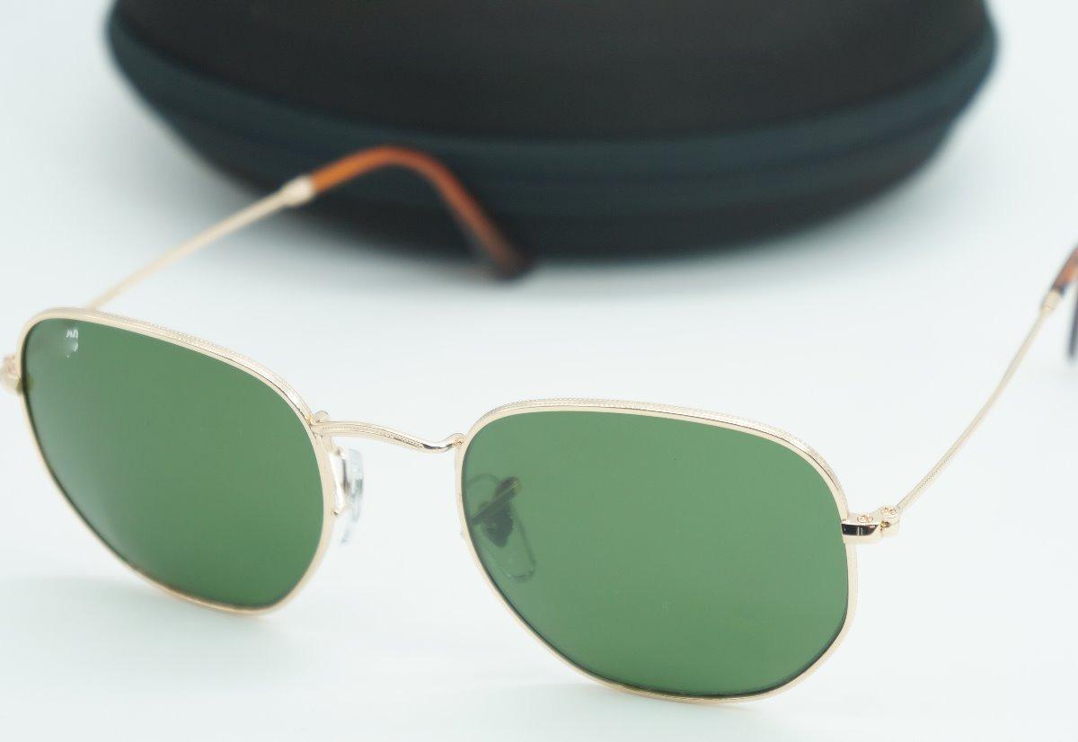 43fa9a093a2d0 oculos de sol hexagonal masculino verde dourado preto barato. Carregando  zoom.